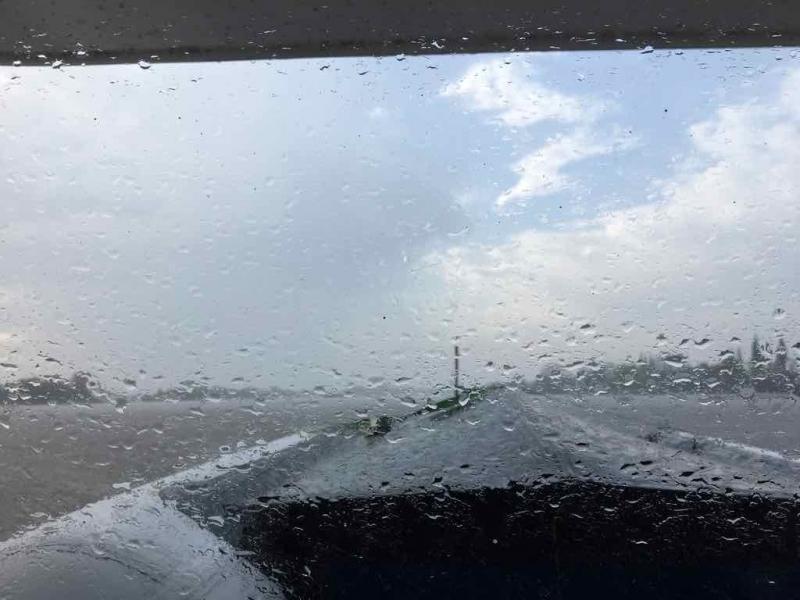 Der erste Regen.